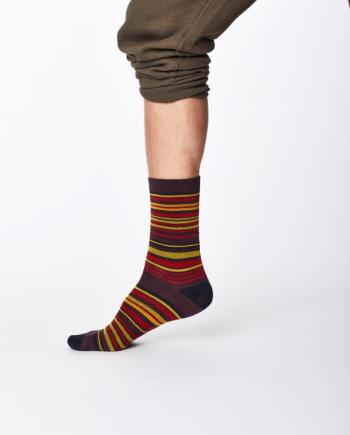 Thought Marshland Sock Aubergine