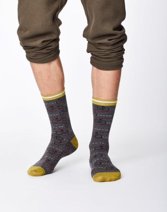 Thought Cycle Sock Mid Grey