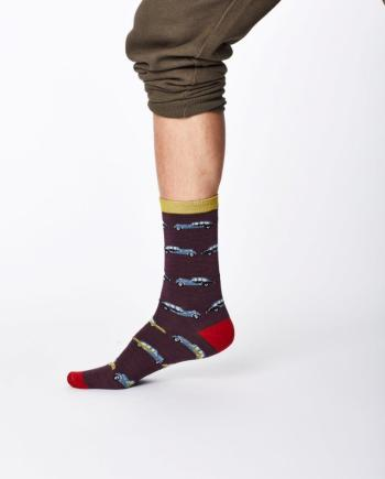 Thought Classic Car Sock Aubergine