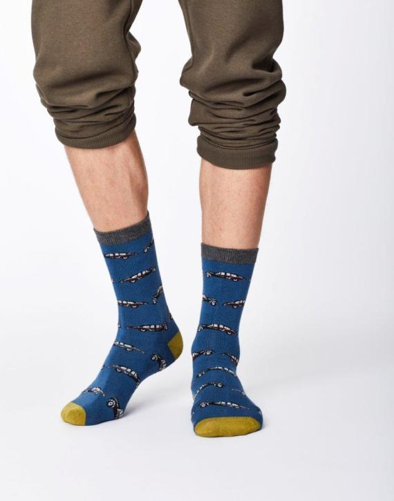 Thought Classic Car Sock Blue