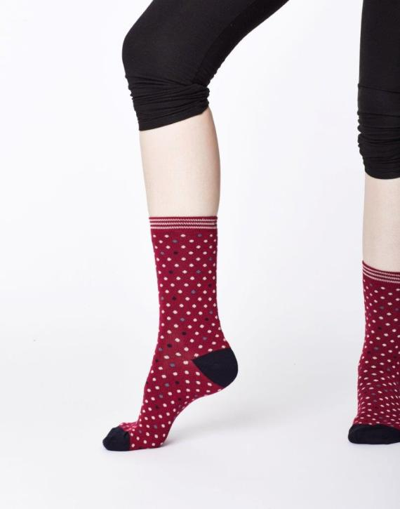 Thought Niven Sock Cranberry