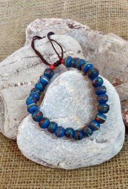 Blue Yak Bead Bracelet Jewellery