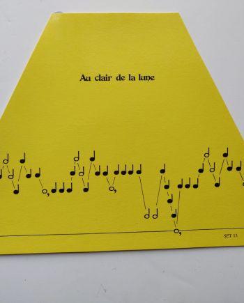 Au Clair De La Lune Music Sheet