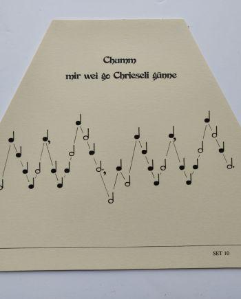 Chumm mir wei go Chrieseli Music Sheet