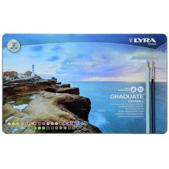 Lyra Graduate Aquarell 36 Tin Set