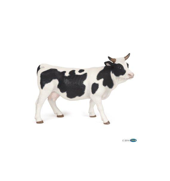 Papo Black and White Cow, Figurine