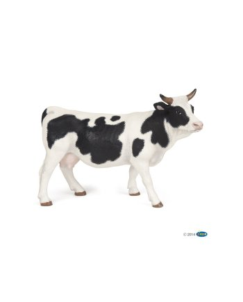 Papo Black and White Cow, Figurine