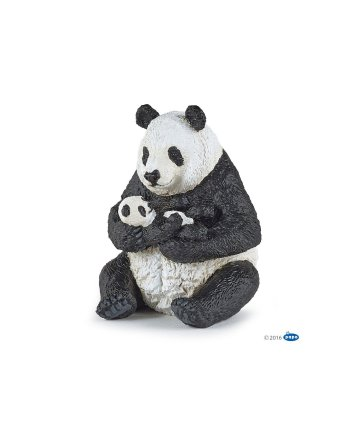 Papo Sitting Panda and Baby, Figurine