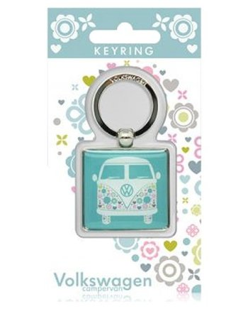 VW Patterned Campervan Keyring