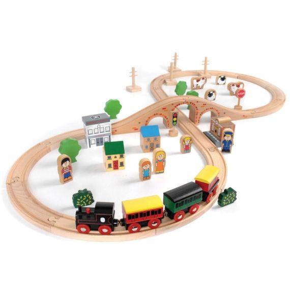 50 Piece Train Set by John Crane