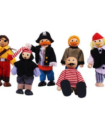 Heritage Playset Pirates Set, by Bigjigs