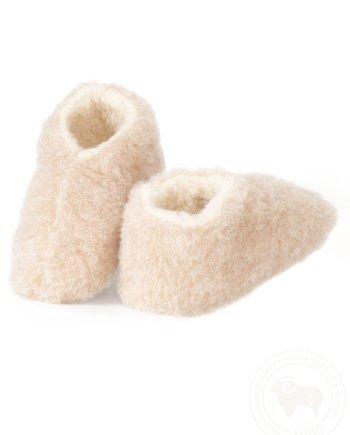 Yoko Skiper Wool Booties - Beige