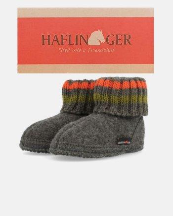 Haflinger Childrens Slipper Boot Paul Anthrazit