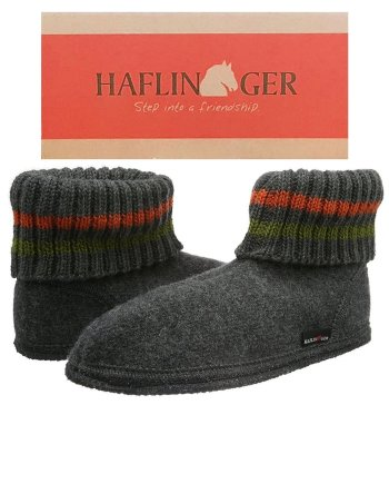 Haflinger Slipper Boot Paul Anthrazit
