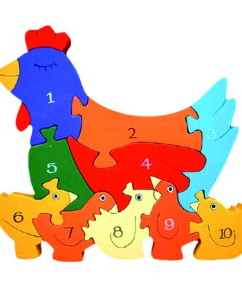 Number Hen Wooden Puzzle