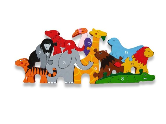 Number Zoo Wooden Puzzle