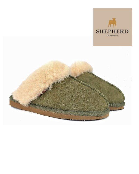 Shepherd Slippers Jessica Olive Chestnut Mule