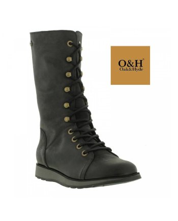 OakHyde Black Batalion Laced Boot