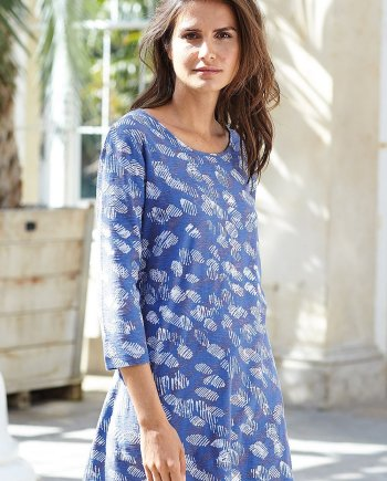 Lucerne Print Annie Tunic - Soft Blue, by Adini
