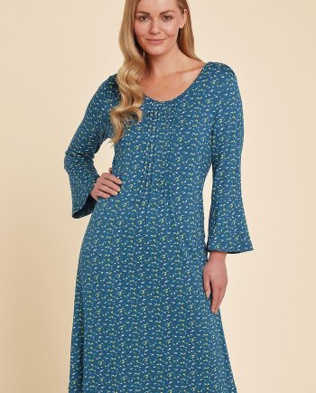 Pippa Print Carrie Dress - Teal, by Adini