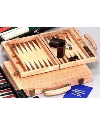 15 Oak Backgammon Set