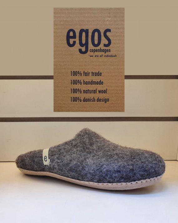 Egos natural brown mule slipper