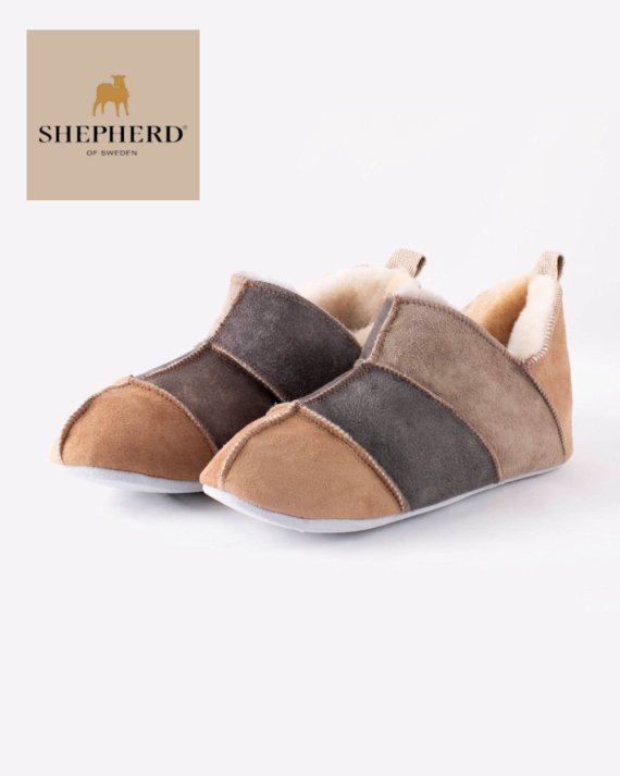 Shepherd Nora Unisex Soft Sole Sheepskin Slipper Multi-Coloured