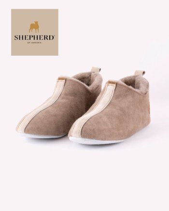 Shepherd Lina/Henrik Unisex Soft Sole Sheepskin Slipper Stone