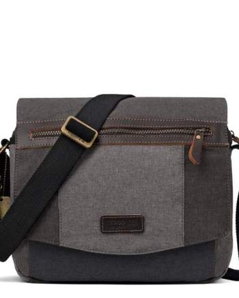 Classic Canvas Messenger Bag TRP0387 by Troop London