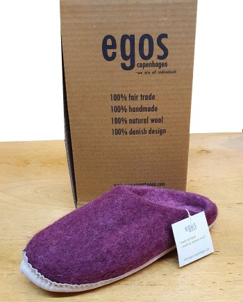Egos Natural Bordeaux Mule Slipper