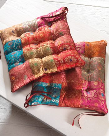 Namaste Brocade Patchwork Chair Pad