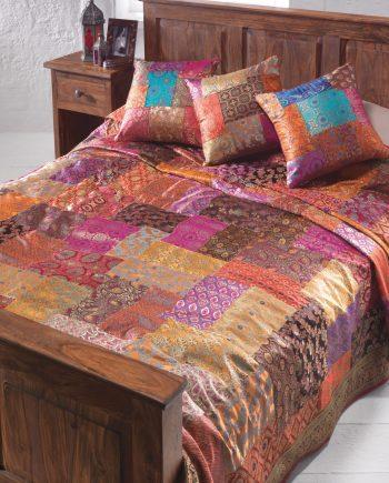 Namaste Brocade Patchwork Bedcover 210 x 240cm
