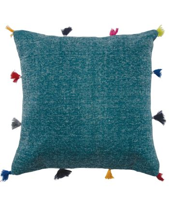 Namaste Baramsar stone washed cushion cover - Blue