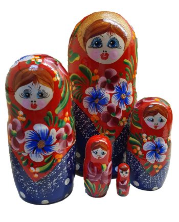 Russian Doll Set 5 pieces Large Traditional