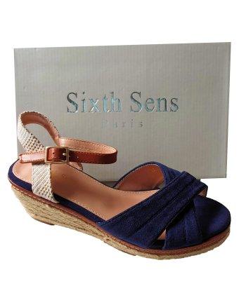 Sixth Sens Low Ankle Strap Espadrille Sandals
