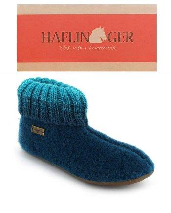 Haflinger Slipper Boot Everest Iris Turquoise