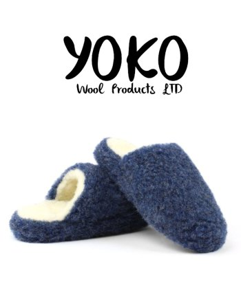 Yoko Wool Slippers Basic Dark Blue Mule