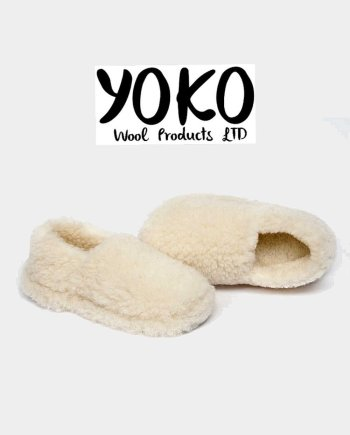 Yoko Wool Slippers Siberian Natural