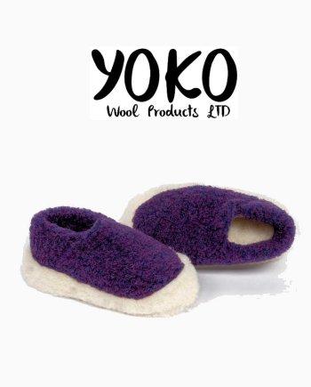 Yoko Wool Slippers Siberian Violet