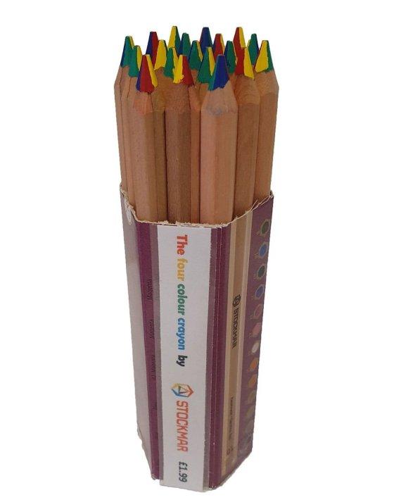 Stockmar four colour crayon