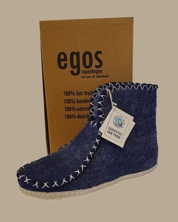 Egos Comfy Blue Ankle Slipper Boot