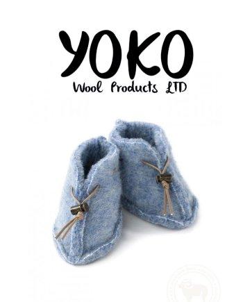 Yoko Wool Booties - Blue