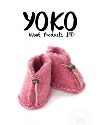 Yoko Wool Booties - Pink