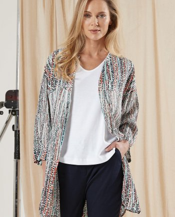 Horizon Print Lyra Kimono Jacket - Multi