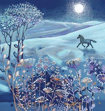 Moonlit Horse Card