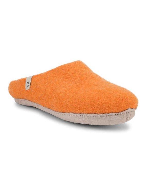 Egos Orange Mule Slipper 1a