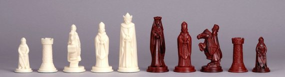 Plastic Chess Pieces Medieval felted Set