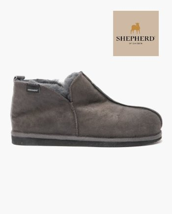 Shepherd Anton Hard Sole Slipper Antique Asphalt