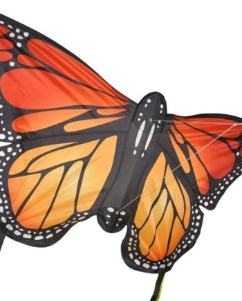 Monarch Butterfly Single Line Large Kite Red