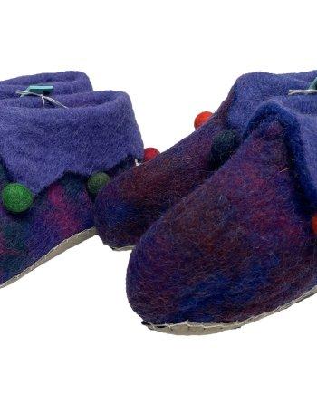 Childrens Purple Jester Slippers
